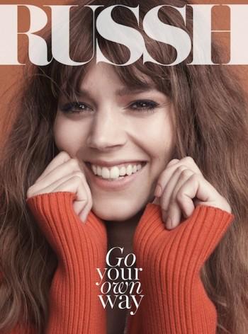Freja Beha Erichsen is All Smiles for Russh June-July 2014 Cover