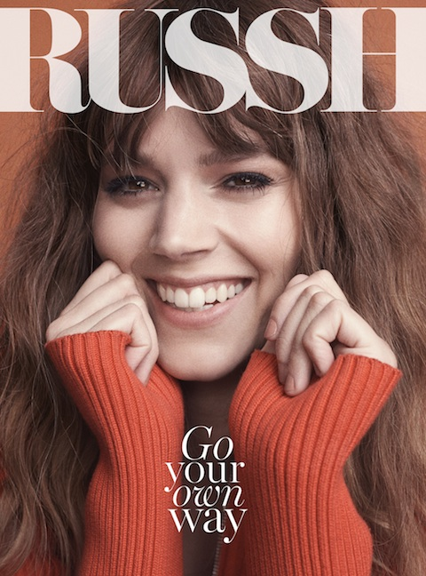 freja beha russh cover 2014 Freja Beha Erichsen is All Smiles for Russh June July 2014 Cover
