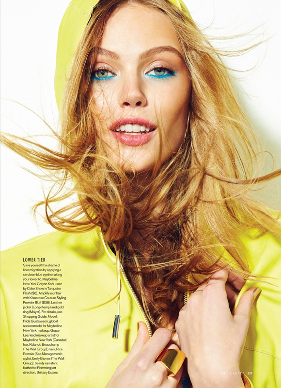 frida gustavsson beauty shoot2 Frida Gustavsson Wows in Elle Canada Beauty Shoot by Max Abadian