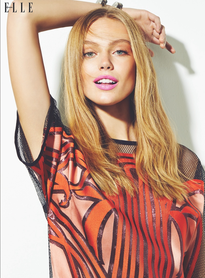 frida gustavsson beauty shoot6 Frida Gustavsson Wows in Elle Canada Beauty Shoot by Max Abadian