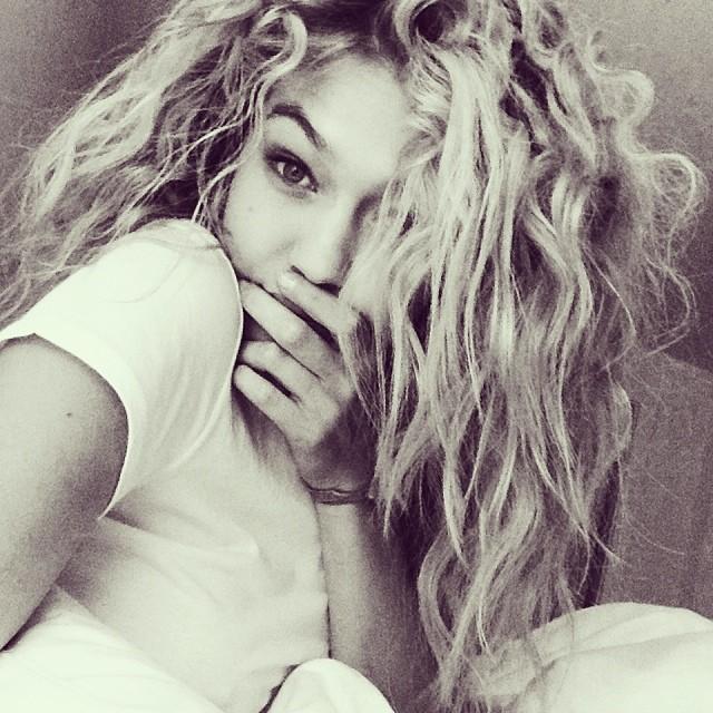 Gigi Hadid gets curly hair for upcoming shoot