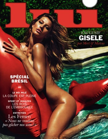 Red Hot! Gisele Bundchen Goes Naked for Lui Cover by Mert & Marcus