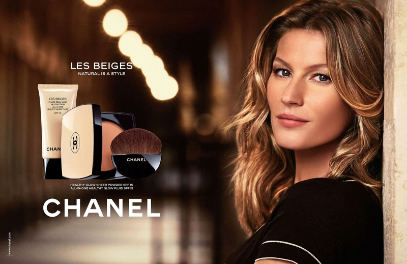 gisele chanel les beiges makeup ads photos1 More Photos of Gisele Bundchen for Chanel Les Beiges Beauty Campaign
