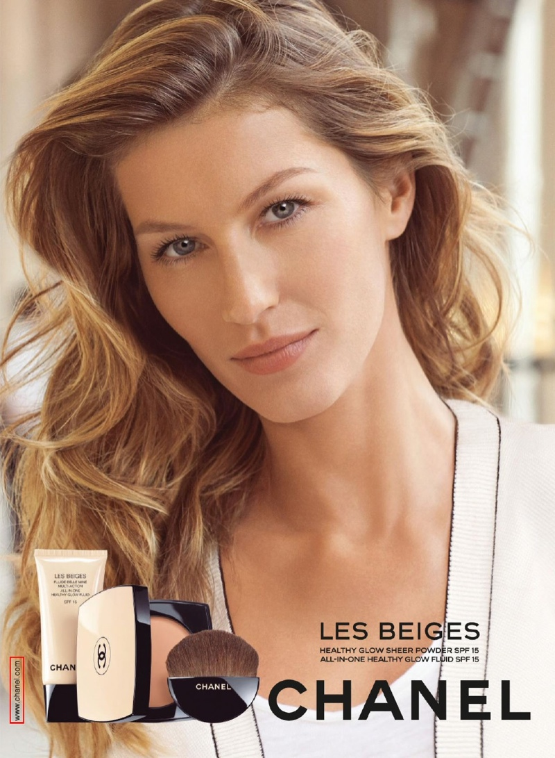 gisele chanel les beiges makeup ads photos2 More Photos of Gisele Bundchen for Chanel Les Beiges Beauty Campaign