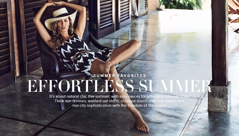 gisele summer1 Gisele Bundchen Has an Effortless Summer in H&M Shoot