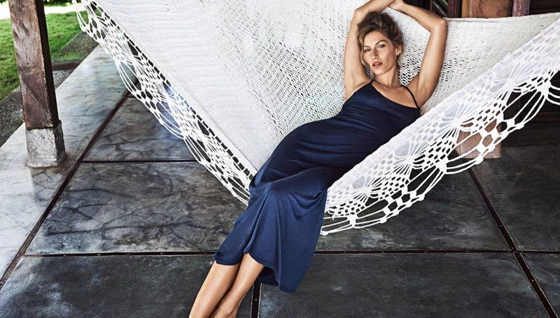 gisele summer2 Gisele Bundchen Has an Effortless Summer in H&M Shoot