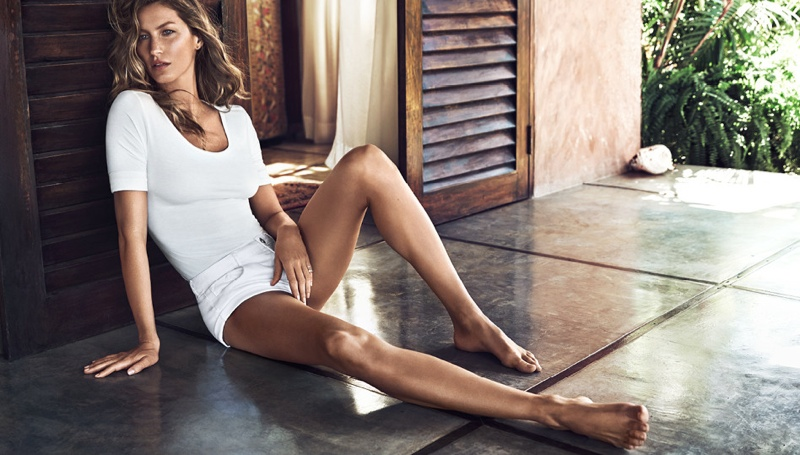 gisele summer4 Gisele Bundchen Has an Effortless Summer in H&M Shoot