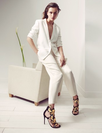Andreea Diaconu Returns for Giuseppe Zanotti's Fall/Winter 2014 Campaign
