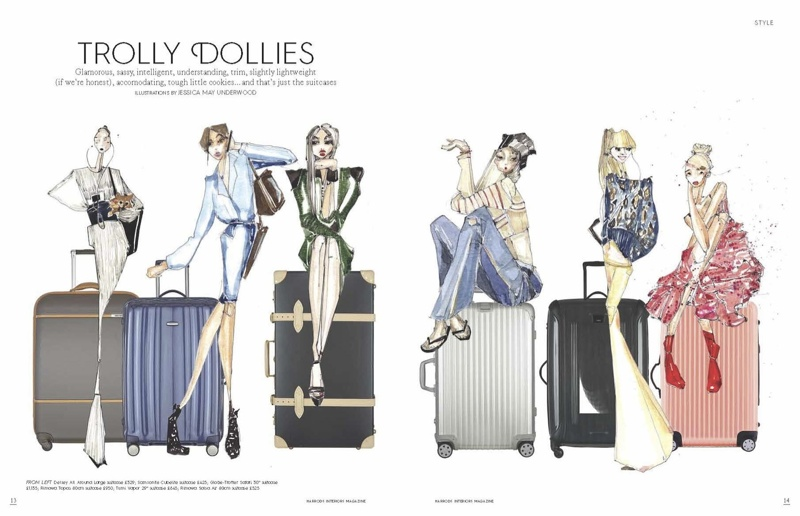 "Harrods Magazine's ""Trolly Dolies"" won for best print illustration in the prestige category"