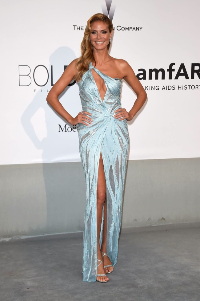 Heidi Klum stunned in Atelier Versace