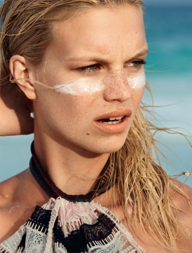 hilary walsh shoot19 Nadine Leopold is Summer Ready for Glamour France Spread by Hilary Walsh