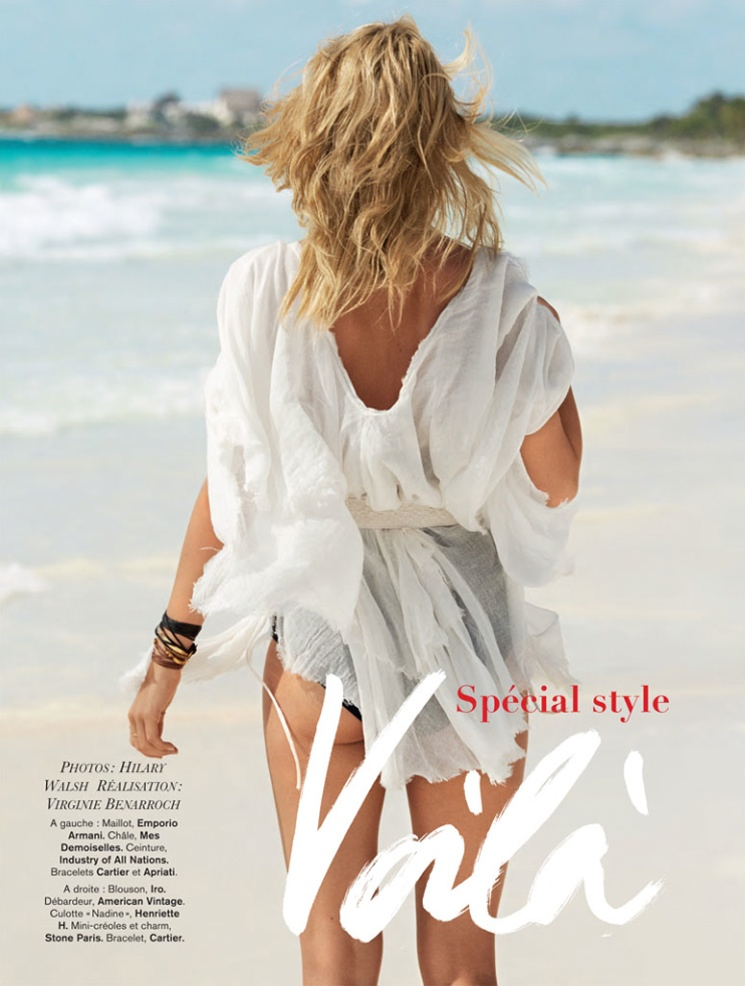 hilary walsh shoot2 Nadine Leopold is Summer Ready for Glamour France Spread by Hilary Walsh