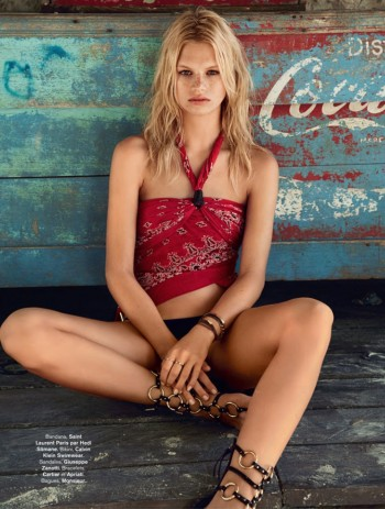 Nadine Leopold is Summer Ready for Glamour France Spread by Hilary Walsh