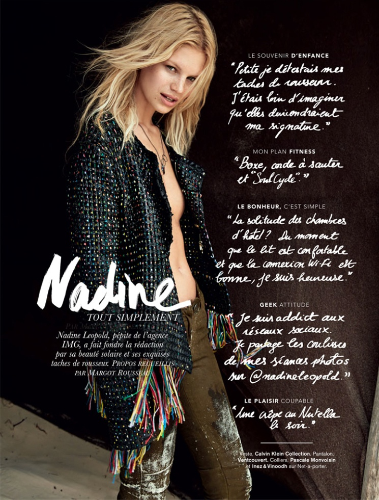 hilary walsh shoot24 Nadine Leopold is Summer Ready for Glamour France Spread by Hilary Walsh