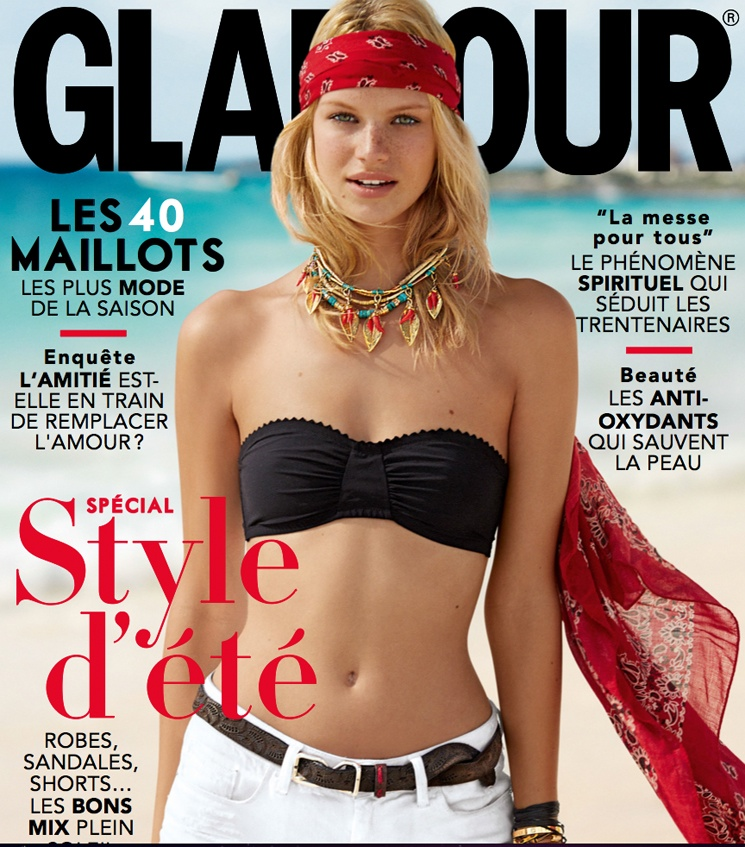 hilary walsh shoot25 Nadine Leopold is Summer Ready for Glamour France Spread by Hilary Walsh
