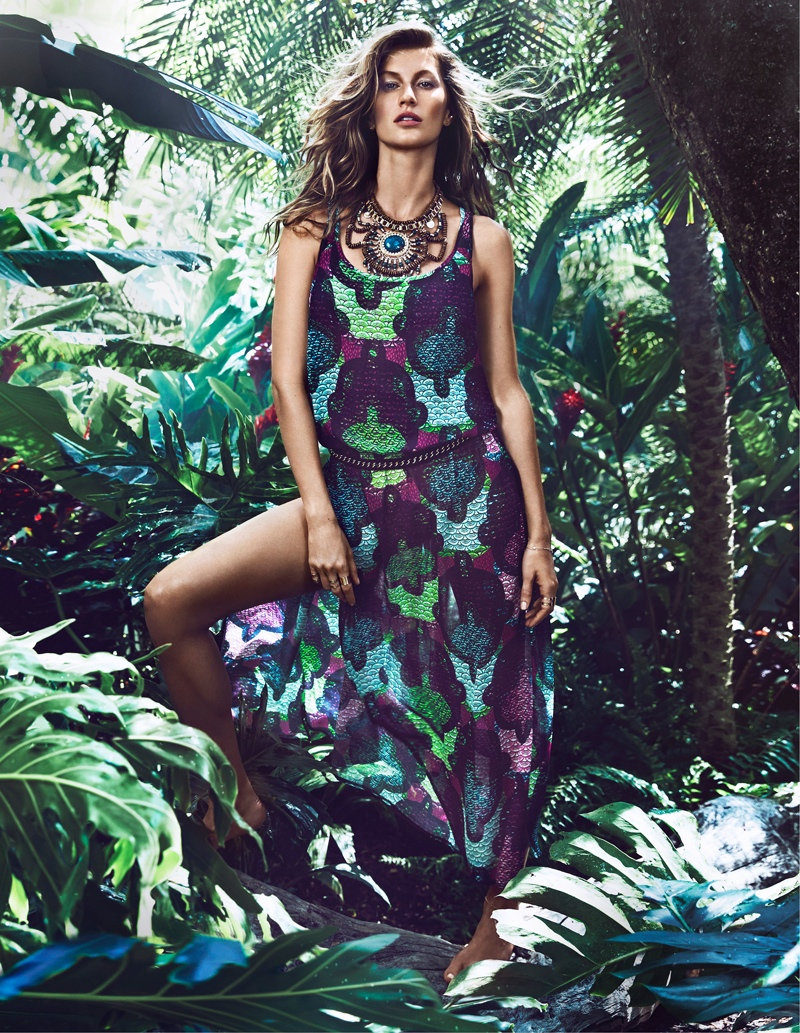 hm summer gisele bundchen swimwear 2014 3 Gisele Bundchen Brings the Heat for H&M Swimwear 14 Ads