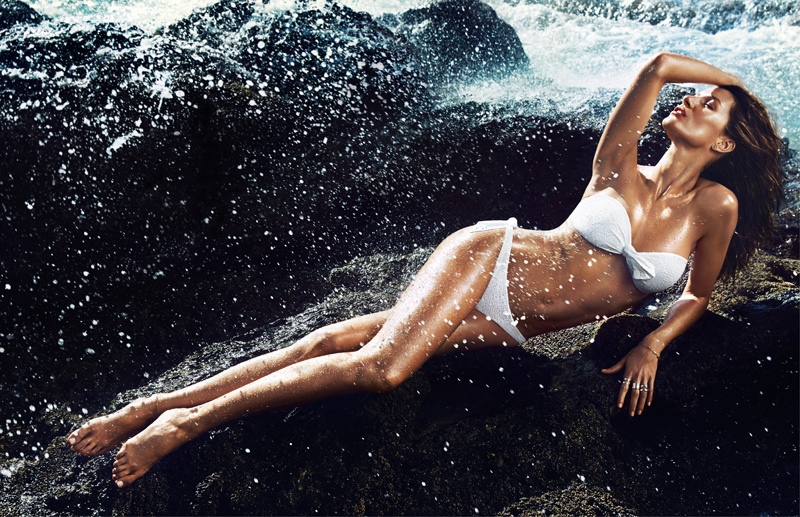 hm summer gisele bundchen swimwear 2014 6 Gisele Bundchen Brings the Heat for H&M Swimwear 14 Ads