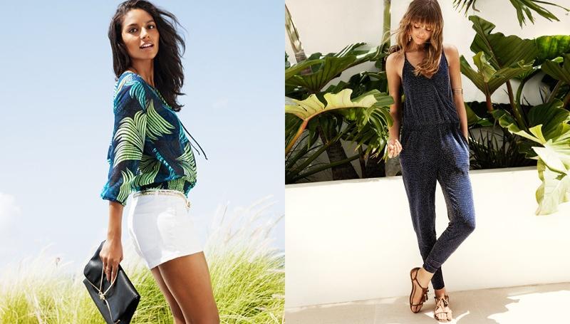 hm vibrant summer3 Frida Gustavsson + Emanuela de Paula Star in H&M Summer Style Update
