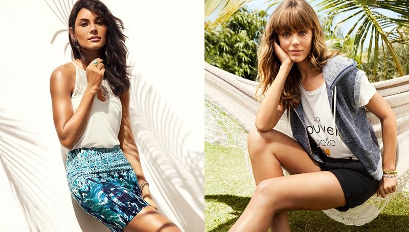 hm vibrant summer4 Frida Gustavsson + Emanuela de Paula Star in H&M Summer Style Update