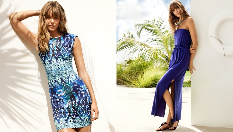 hm vibrant summer6 Frida Gustavsson + Emanuela de Paula Star in H&M Summer Style Update
