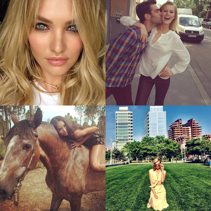 Instagram Photos of the Week | Candice Swanepoel, Toni Garrn + More Models