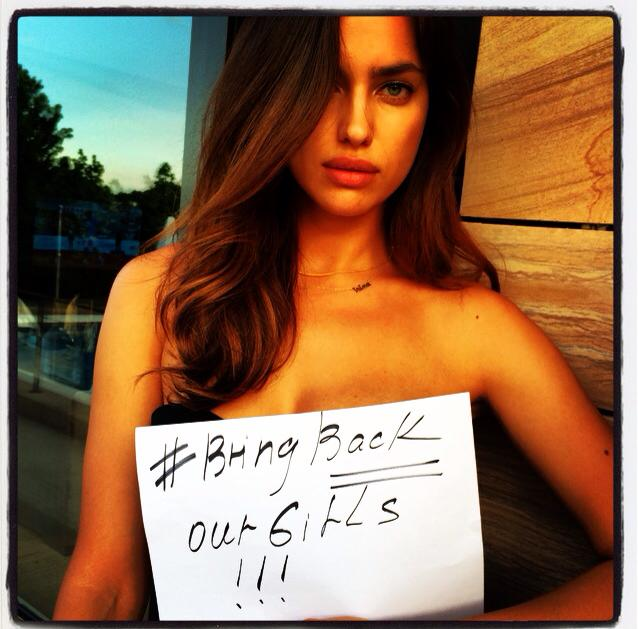 irina girls Cara, Adriana & Irina Participate in Bring Back Our Girls Campaign