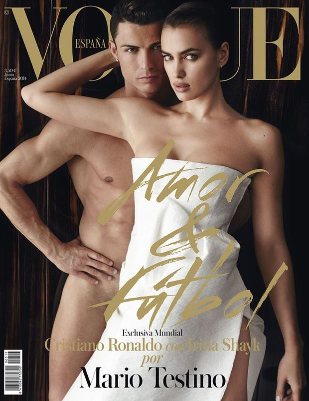 irina shayk cristiano ronaldo vogue spain01 Irina Shayk & Her Beau Cristiano Ronaldo Cozy Up for Vogue Spain Cover