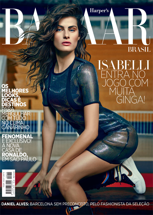 isabeli fontana bazaar brazil june 2014 cover Isabeli Fontana Heats Up Not 1, But 2 June Magazine Covers