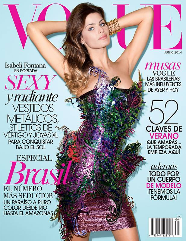isabeli fontana vogue mexico june 2014 cover Isabeli Fontana Heats Up Not 1, But 2 June Magazine Covers
