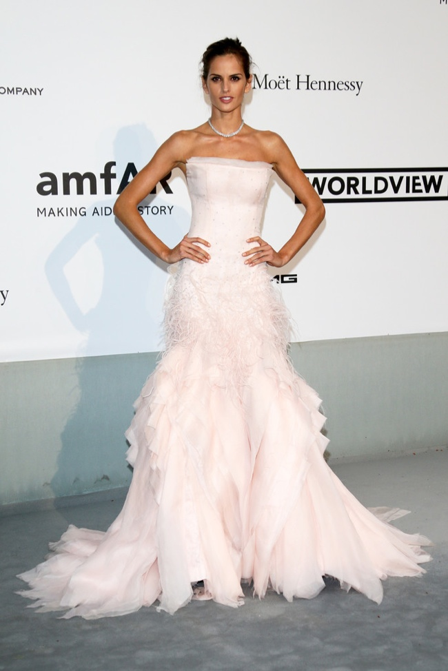 Izabel Goulart wore a pastel colored Emilio Pucci gown