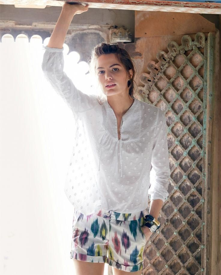 j crew june style guide7 Cameron Russell Stars in J. Crew's Leisure Filled June Style Guide
