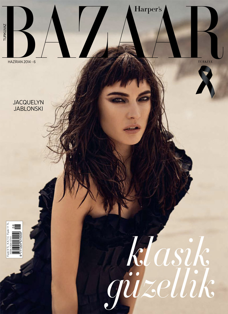 jacquelyn jablonski cover Jacquelyn Jablonski Gets Dark for Harpers Bazaar Turkey Cover Shoot