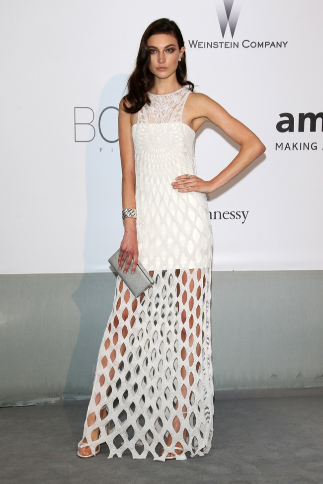 jacquelyn jablonski emilio pucci dress 2014 amfAR Gala at Cannes: Jessica Chastain, Alessandra Ambrosio, Dita Von Teese & More