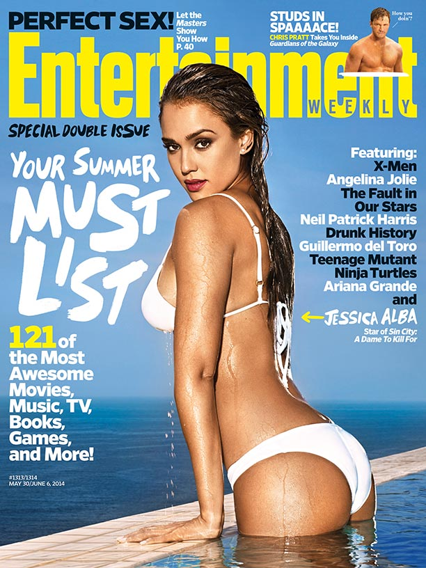 Jessica Alba Sizzles in White Bikini on Entertainment Weekly Cover