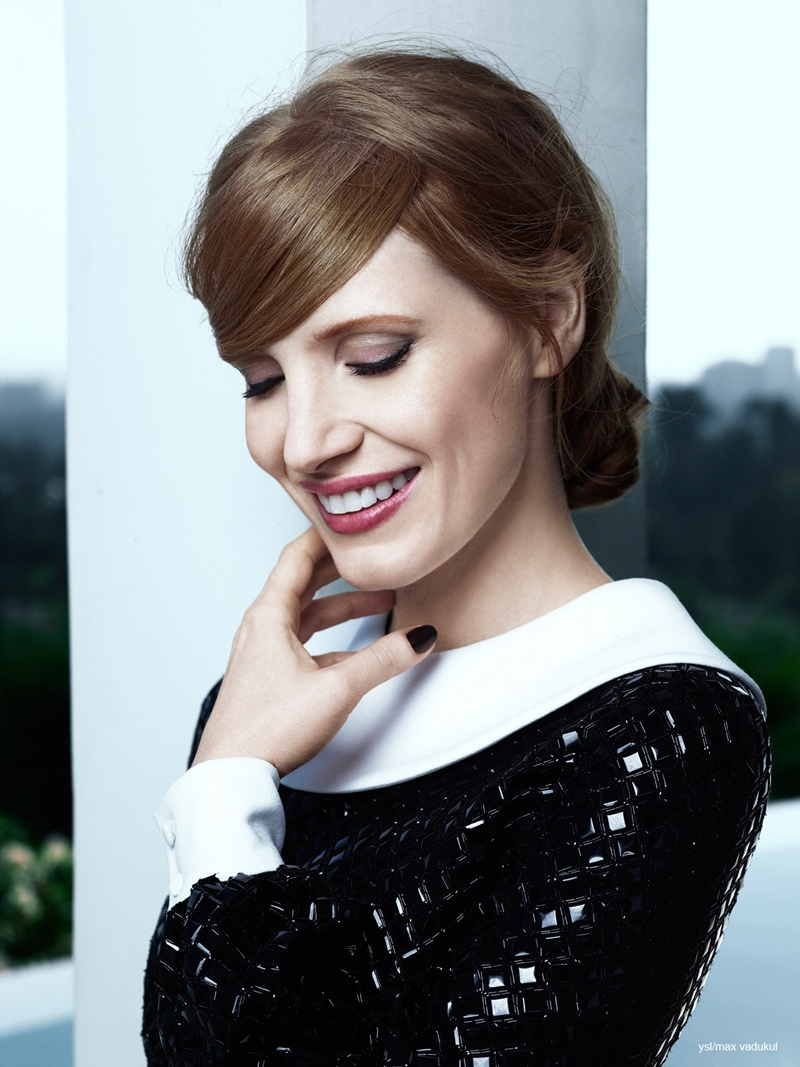 jessica chastain ysl photos 2014 3 Jessica Chastain Charms in Photo Shoot for YSL Manifesto LEclat Eau De Toilette