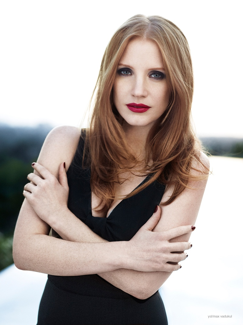 jessica chastain ysl photos 2014 5 Jessica Chastain Charms in Photo Shoot for YSL Manifesto LEclat Eau De Toilette