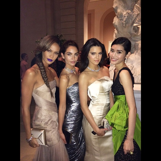 Joan Smalls, Lily Aldridge, Kendall Jenner & Ming Xi pose together