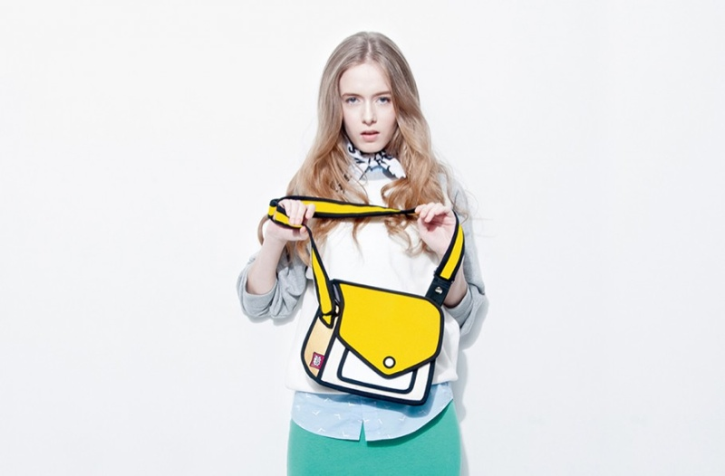jumpfrompaper cartoon bags1 Whoa! These Bags by JumpFromPaper Look Like Drawings