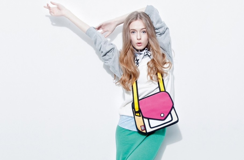 jumpfrompaper cartoon bags3 Whoa! These Bags by JumpFromPaper Look Like Drawings