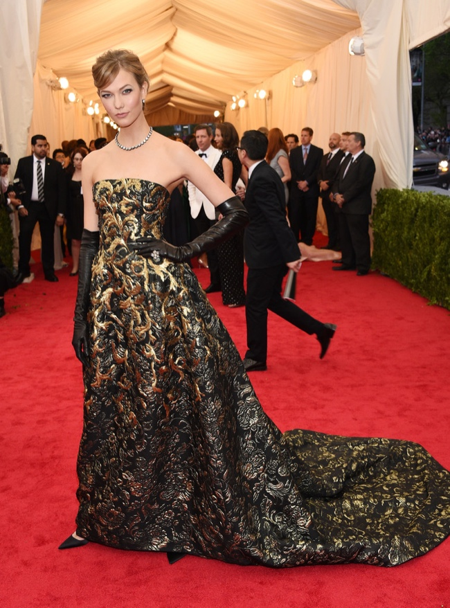 karlie kloss j mendel dress 2014 Met Gala Red Carpet Looks