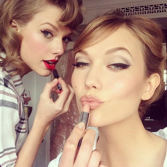 Karlie Kloss & Taylor Swift Got Glammed Up for the Met Ball Together