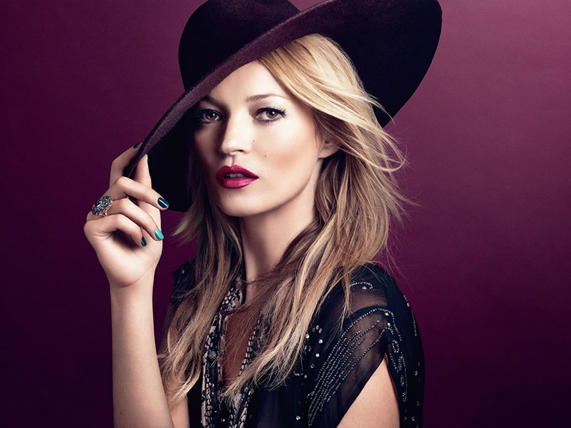 kate moss bohemian rimmel london makeup Kate Moss Channels Bohemian Style in Her Spring Rimmel London Ads