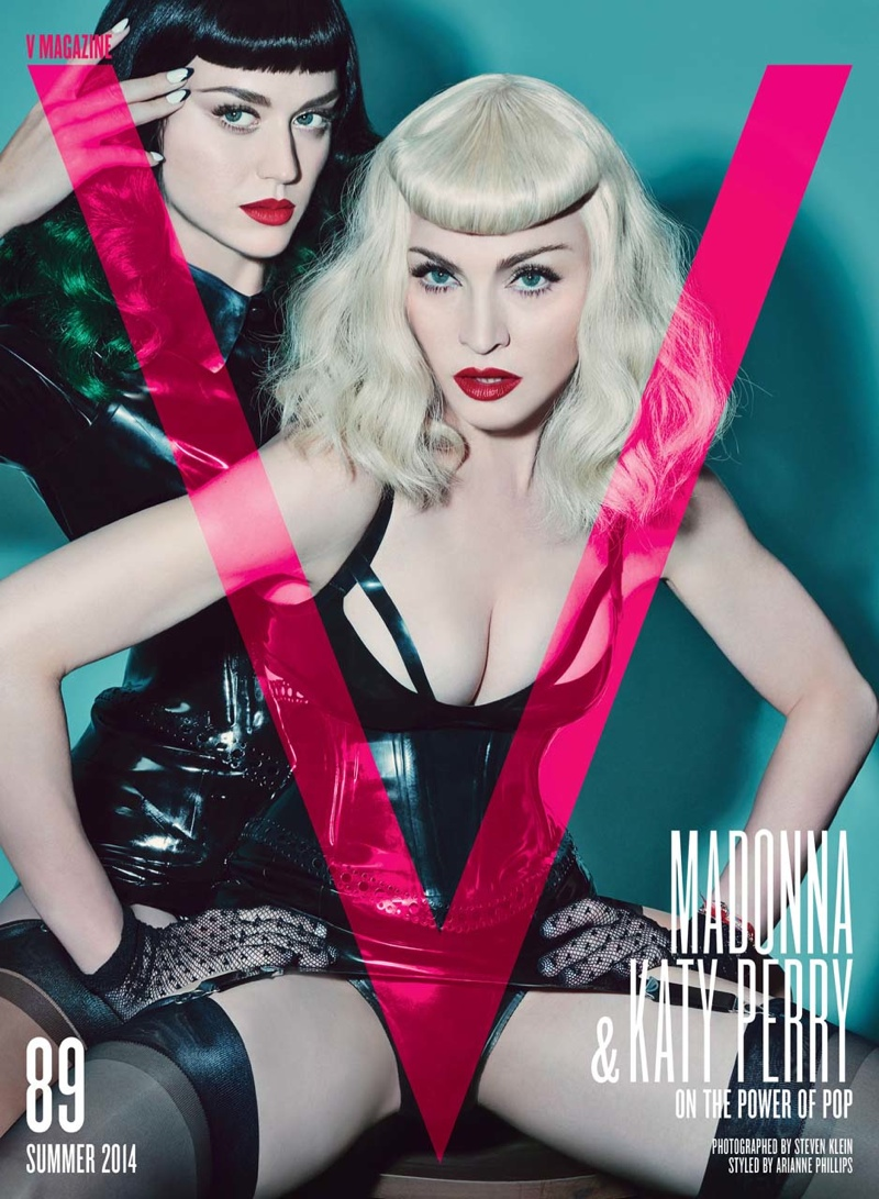 katy perry madonna v magazine3 Madonna & Katy Perry Team Up for Bondage Inspired V Magazine Shoot
