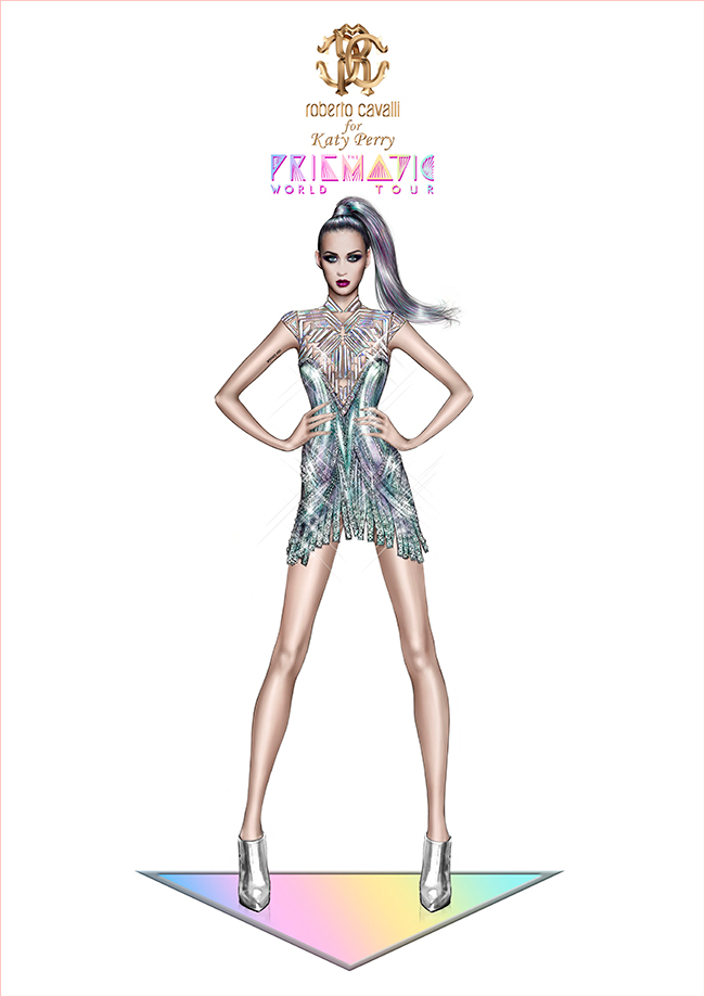 katy perry roberto cavalli prismatic tour costume1 Roberto Cavalli Designs Costumes for Katy Perrys Prismatic Tour