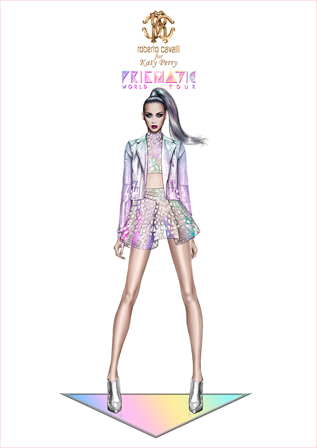 katy perry roberto cavalli prismatic tour costume2 Roberto Cavalli Designs Costumes for Katy Perrys Prismatic Tour