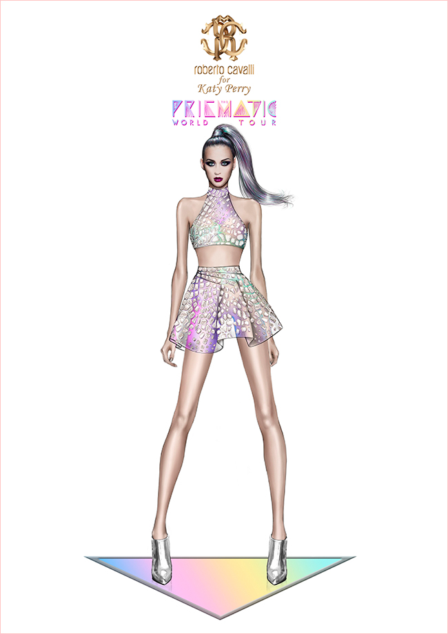 katy perry roberto cavalli prismatic tour costume3 Roberto Cavalli Designs Costumes for Katy Perrys Prismatic Tour