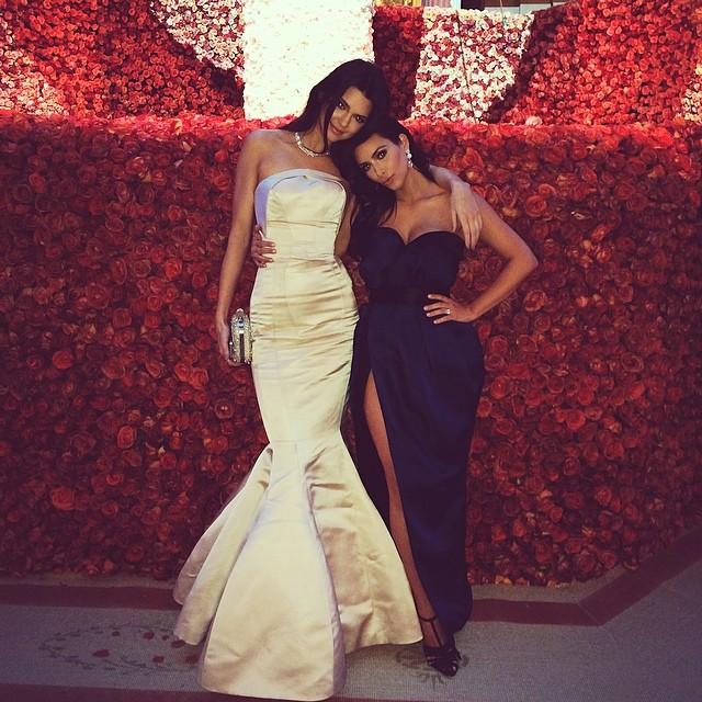 Kendall Jenner with sister Kim Kardashian