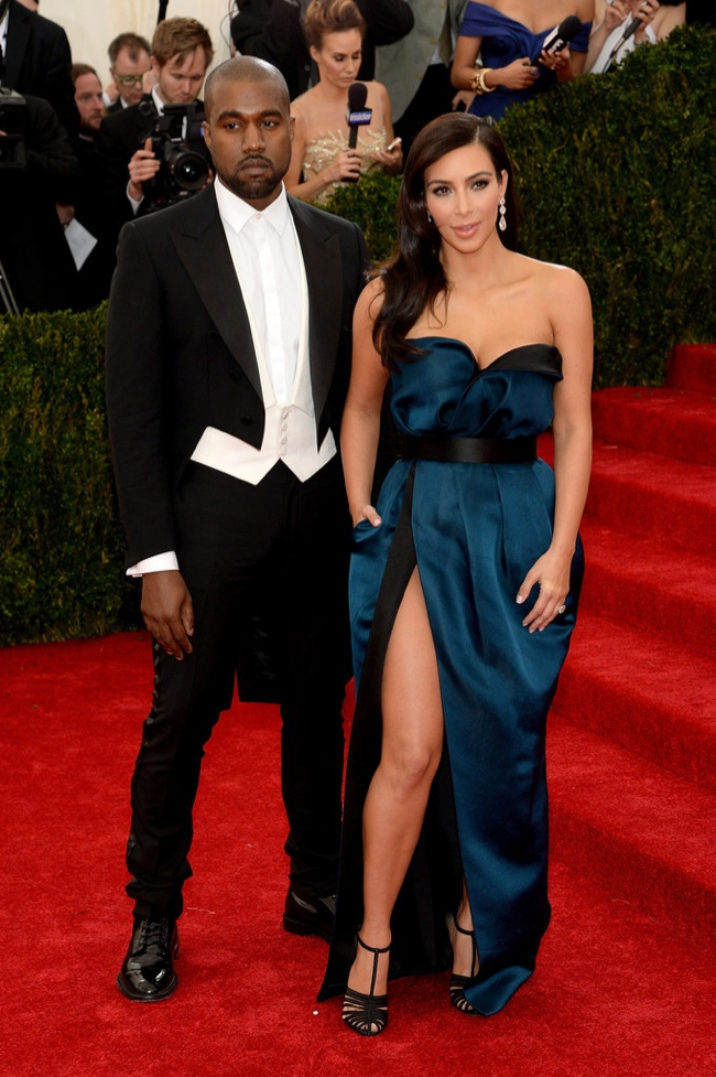 Kim Kardashian joins Kanye West in Lanvin gown