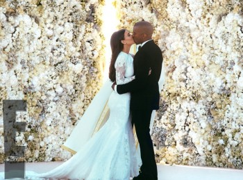 Kim Kardashian Wore a Custom Givenchy Wedding Dress