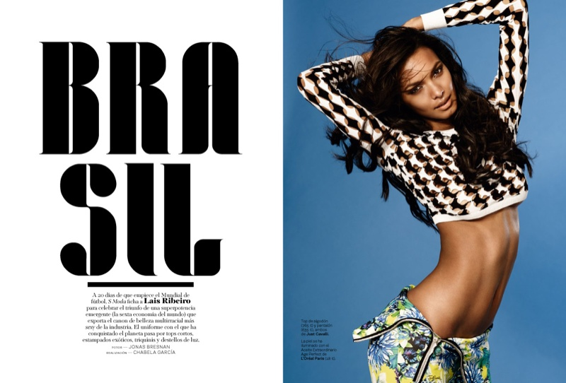 lais ribeiro photo shoot 2014 1 Lais Ribeiro is Ready for the World Cup in S Moda by Jonas Bresnan